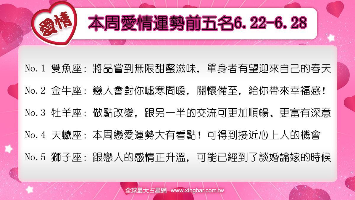 12星座本周愛情吉日吉時(6.22-6.28)