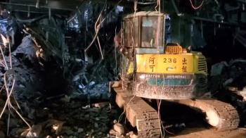 京華城坍塌1工人遭埋!探測儀進工地 初步無生命反應