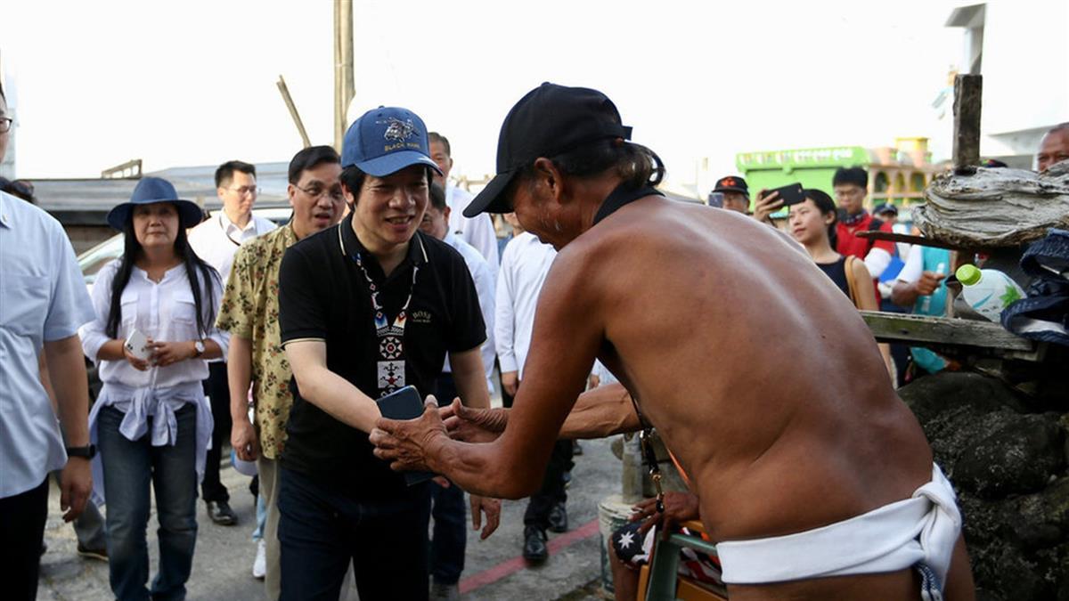 參訪地下屋 賴清德成首位留宿蘭嶼副總統