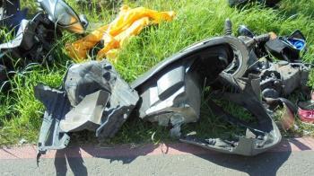 桃園重大死亡車禍!女騎士遭撞飛慘死 10歲女重傷急搶救