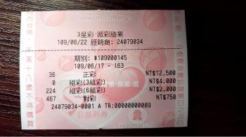 騎車一半遭「黃金」滴!二寶媽買三星彩 爽中1.6萬