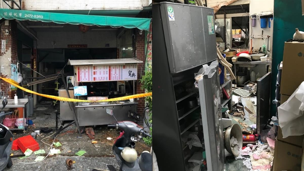 台中牛肉麵店驚傳瓦斯氣爆!6人受傷急送醫搶救