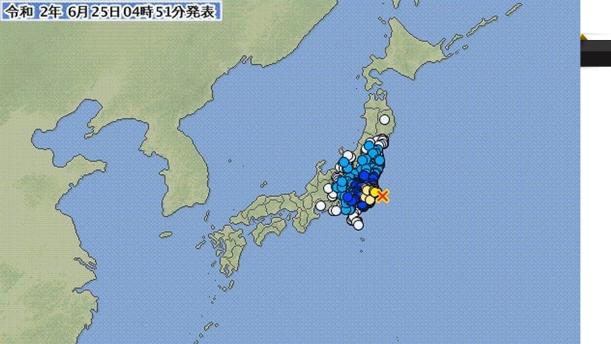 日本千葉清晨6.1地震 研判為311大地震餘震