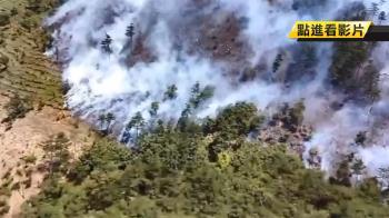 燒逾20小時!武陵農場對面山頭燒2甲 空勤總隊吊掛水袋救援