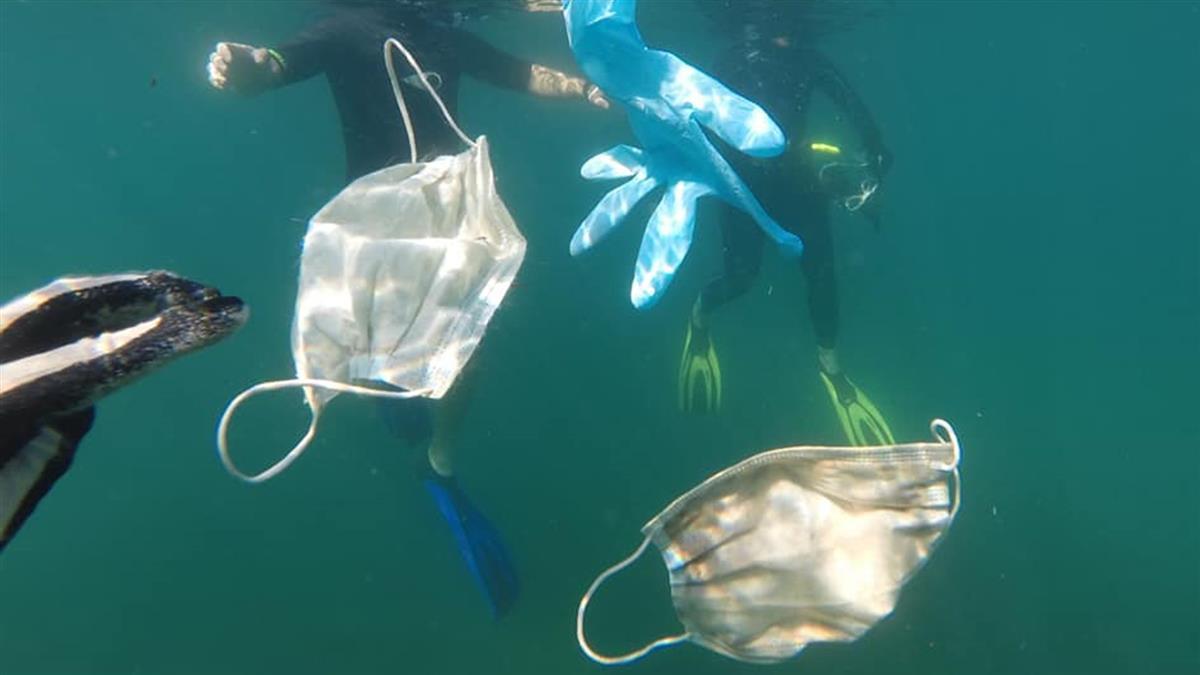 武肺防疫釀隱性災害 垃圾口罩海需450年才能分解