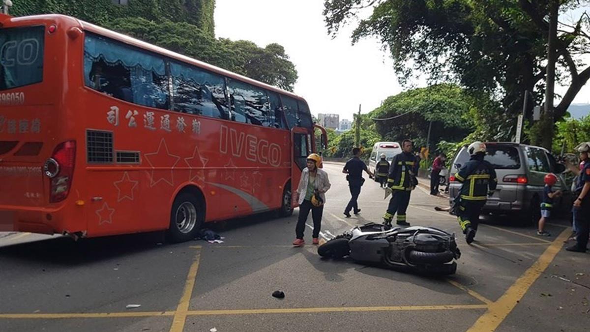 陽明山仰德大道驚傳嚴重車禍!7人受傷送醫搶救