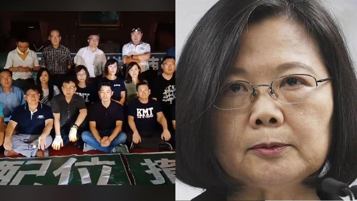 藍委占議場要求撤換陳菊!總統府說重話回擊了