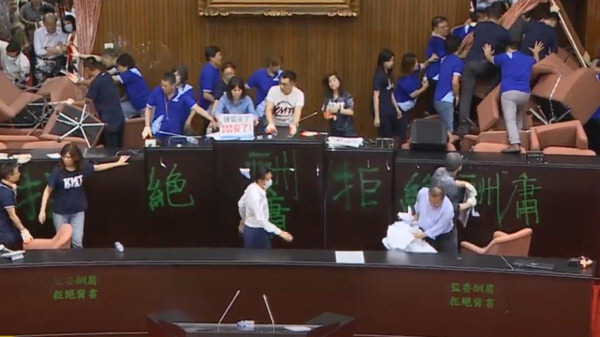藍營佔領立法院20小時落幕 游錫堃宣布散會