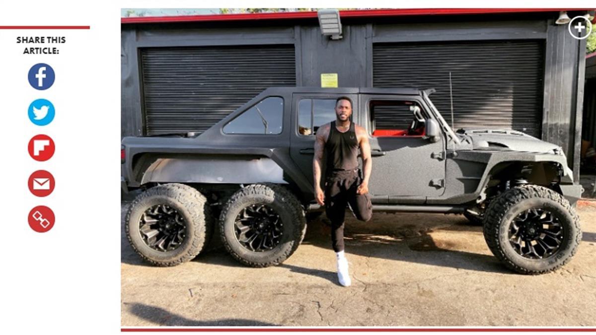 紐約洋基投手豪撒440萬!重金客製「古巴飛彈」款吉普車