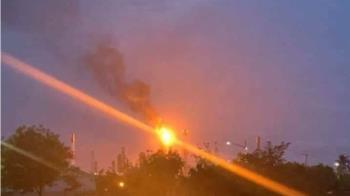 中油林園廠火警燃燒塔竄黑煙  高市裁罰450萬
