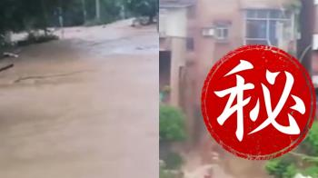 重慶大雨下不停!民宅遭洪水貫穿 慘成大瀑布