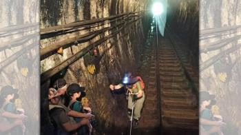 4遊客闖「平溪線隧道」駕駛員急煞 關鍵畫面曝光網撻伐