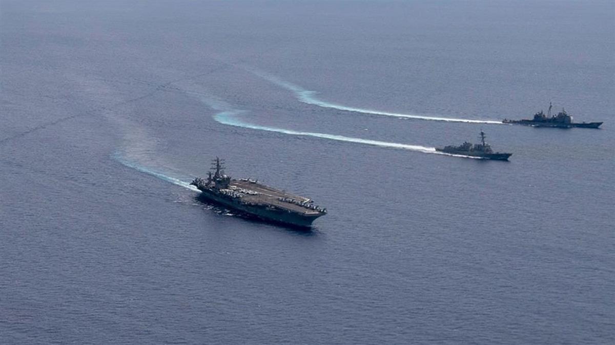 美航艦指揮官:美軍南海演習和大陸軍艦互望