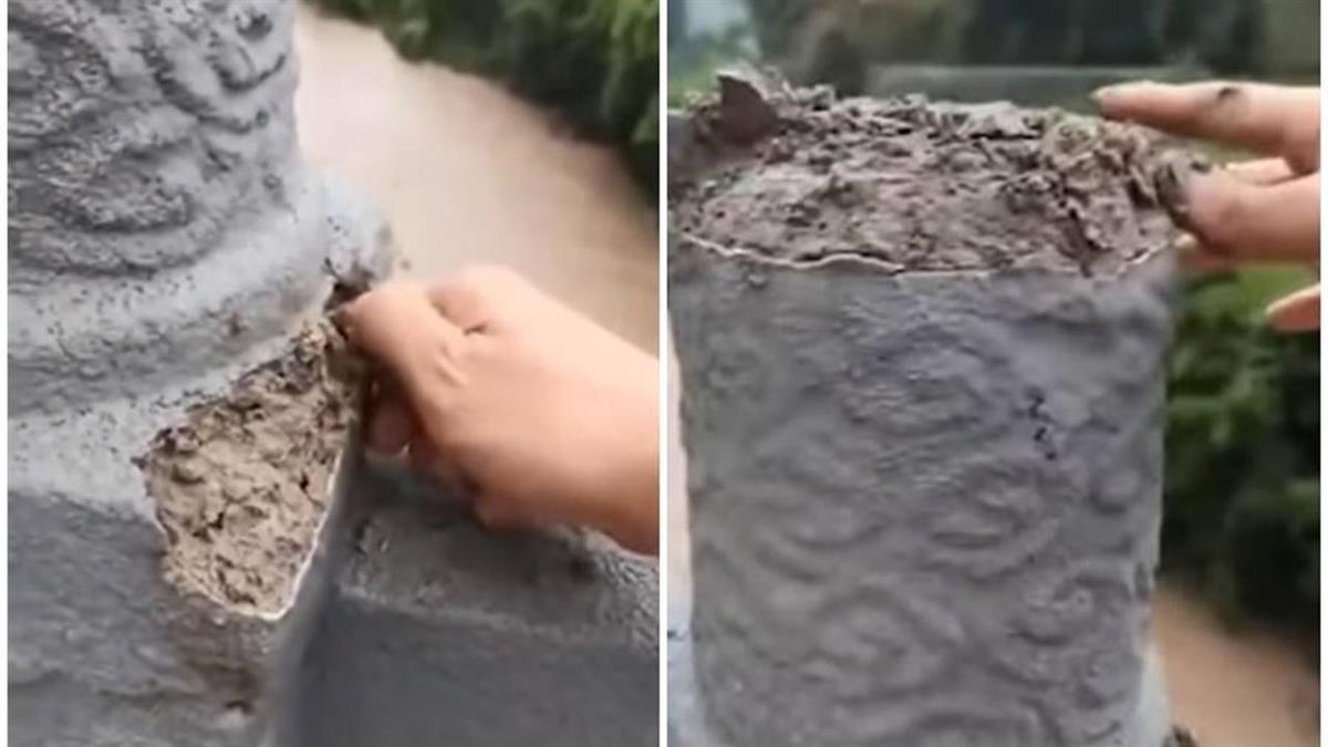 大陸「手撕大橋」石柱一捏就碎 當局認了:完工未驗收