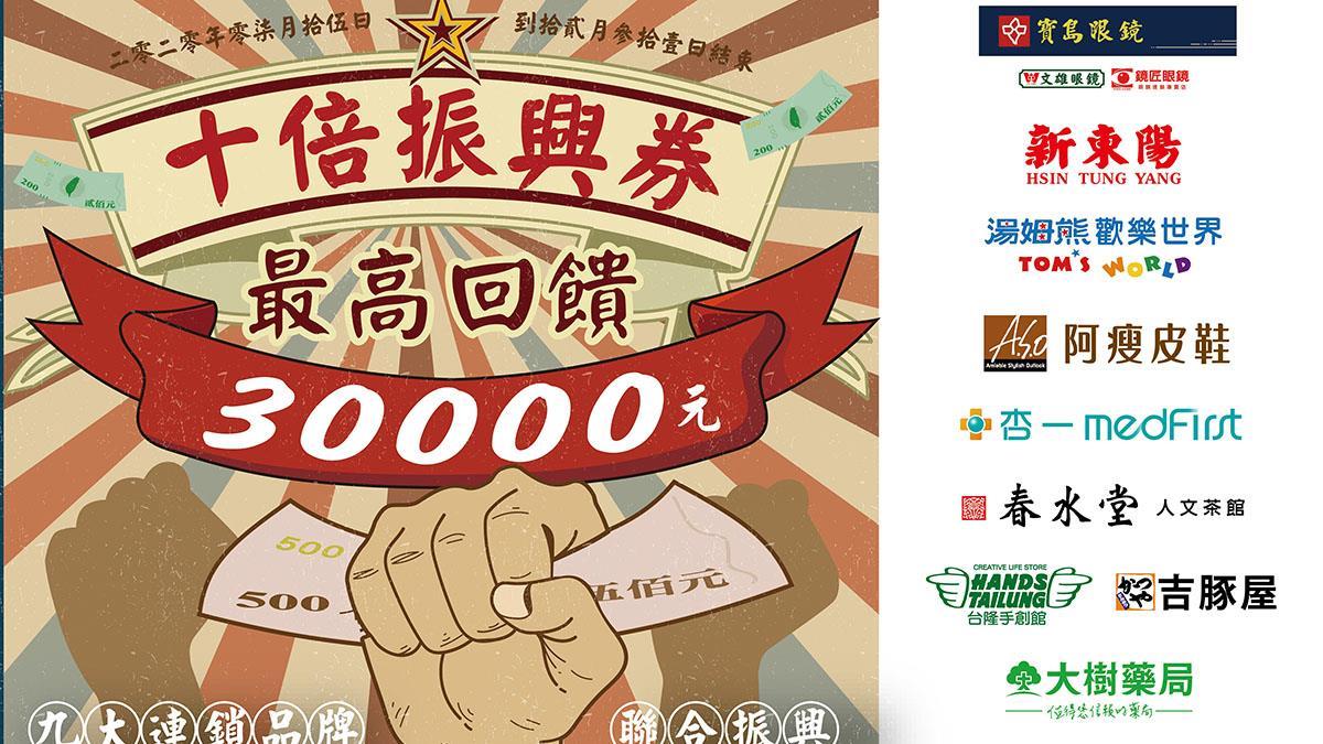 寶島眼鏡攜手本土品牌推「十倍振興券」 總價值超過30000元!