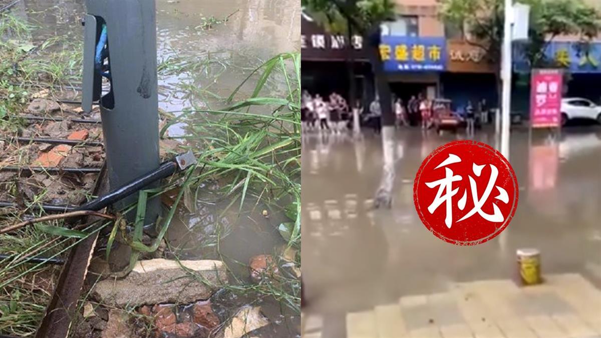 三峽大壩下游超慘!積水中漂浮屍 當地人勸:別碰電線桿