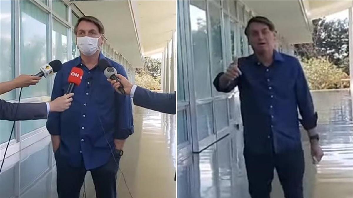 巴西總統染疫突脫口罩比讚 記者協會要告了