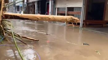 日本大分縣天瀨溫泉街 遭九州豪雨重創
