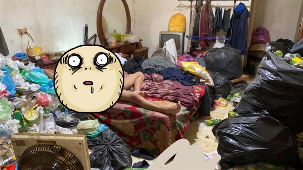 睡在垃圾山!哥哥懶病發作 網驚:有味道…