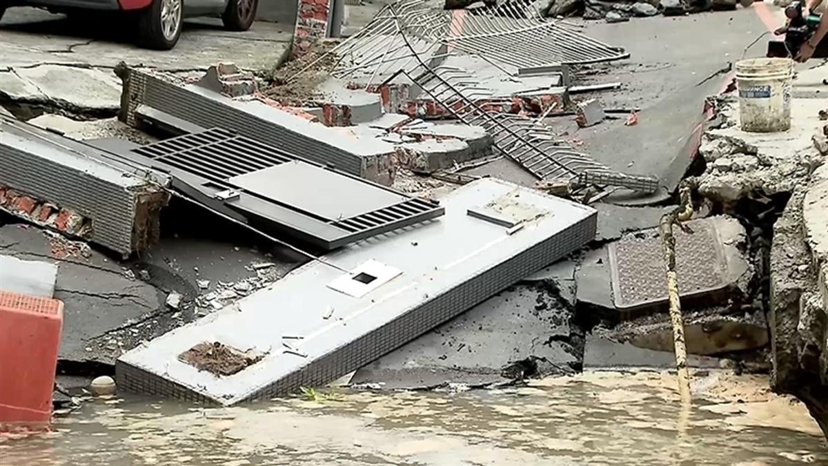 越塌越大!永和工地連續壁破…路基塌陷 急疏散103人
