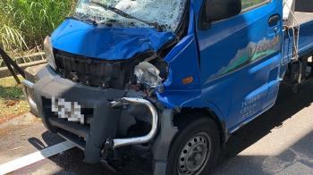 快訊/宜蘭機車遭貨車衝撞!2人噴飛40m…1死1命危