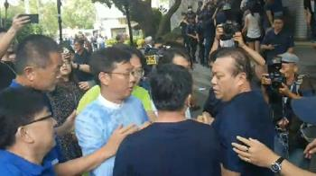 撞破議場玻璃!國民黨力阻陳菊進立院 費鴻泰濺血