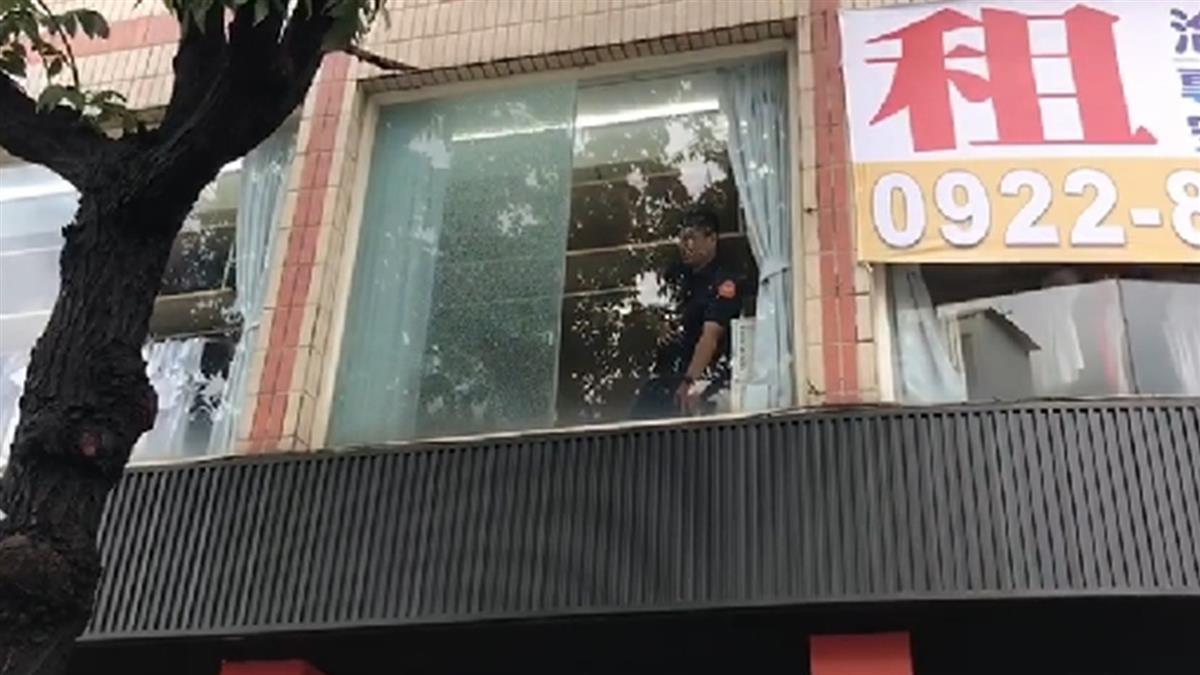 快訊/高雄精品店疑傳槍響!玻璃碎成蜘蛛網狀