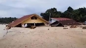 印尼南蘇拉威西洪水為患  至少16死23下落不明