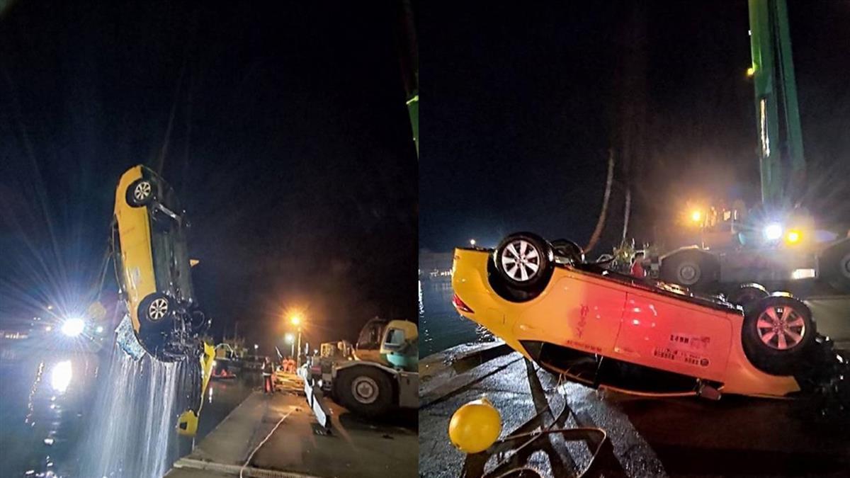 中港墜海小黃 車貼「投保2000萬」卻僅有強制險  車行老闆:無法約束
