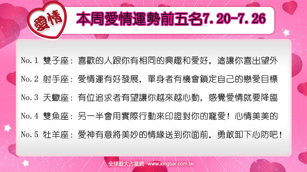 12星座本周愛情吉日吉時(7.20-7.26)