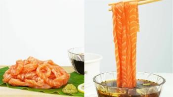 鮭魚生魚片太夯!餐廳推「生魚麵」秒吸進嘴超滿足