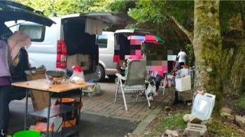 森林遊樂區停車格變露營地 東勢林管處強制斷電
