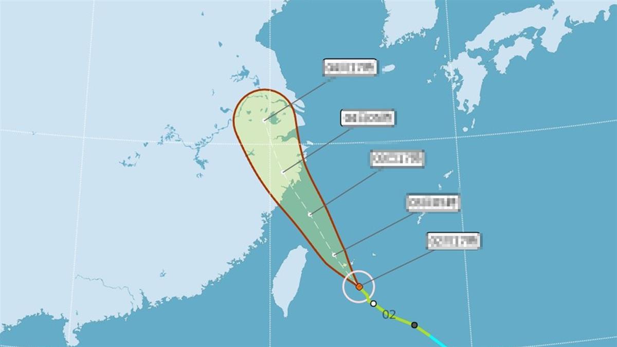 恐發陸警!颱風哈格比最新路徑曝 這天起防雨彈炸