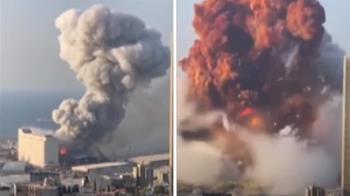 蕈狀雲直衝天際! 黎巴嫩大爆炸78死4000傷 川普:是恐攻