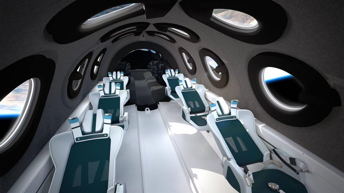 維珍銀河「太空船二號」內觀曝 星際旅行即將上線