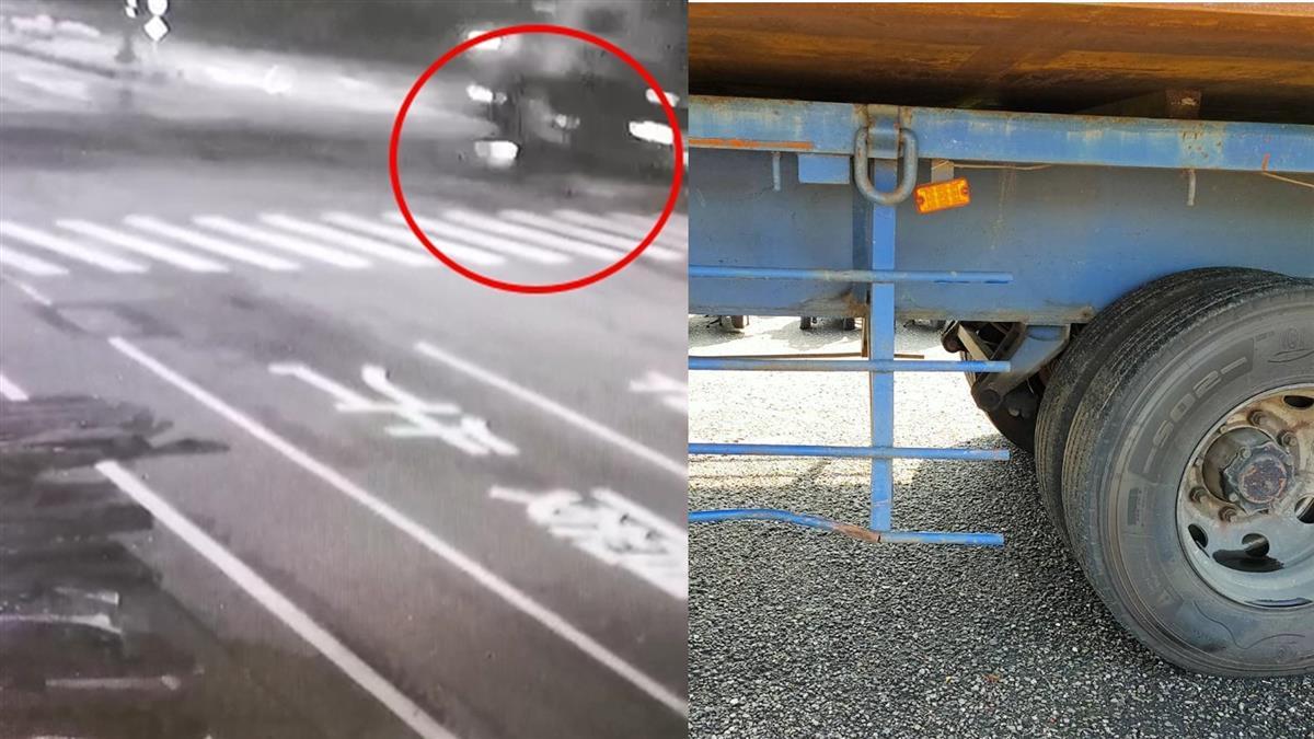 台南騎士遭輾爆頭亡 聯結車竟逃跑裝沒事
