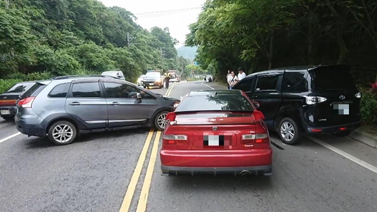 獨/越雙黃線撞兩車 肇事婦嗆:有種斬雞頭發誓沒撞我