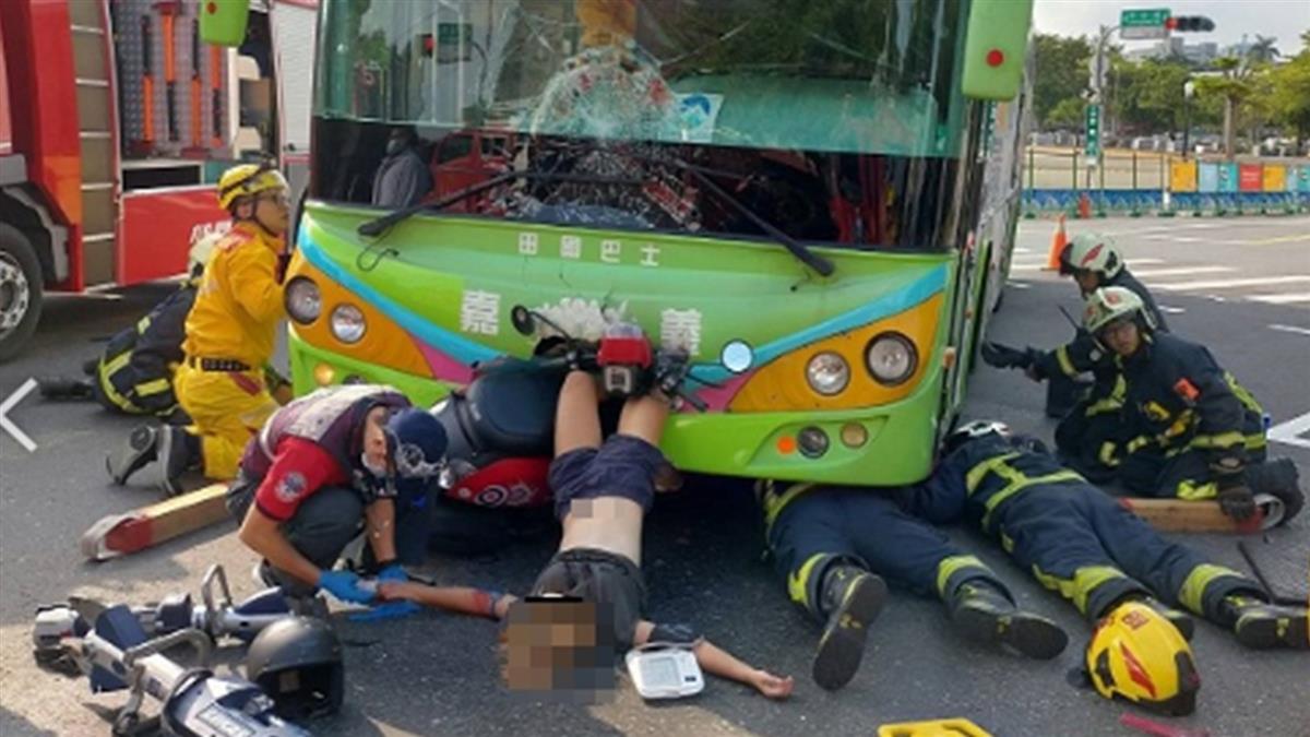 18歲嘉義女騎士撞公車!雙腿離奇插車頭 原因找到了