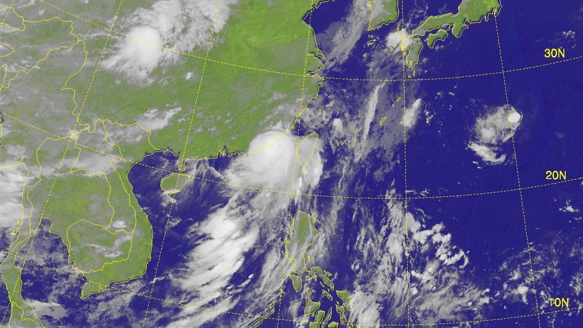 颱風外圍環流影響 雲林以南台東防短時強降雨
