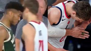 開賽10分鐘!NBA公鹿「字母哥」鐵頭撞人遭驅逐出場