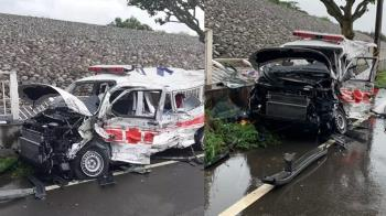 台中油罐車撞救護車!車頭全毀成廢鐵 3人重傷送醫搶救