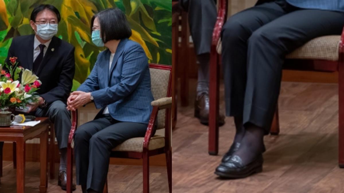 網傳蔡英文脫鞋照?嗆「是香港腳發作嗎」 查核中心回應了