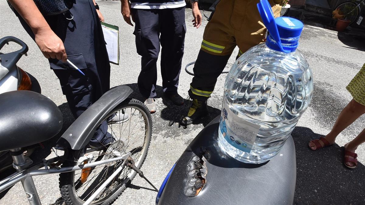 遭縱火?他機車坐墊燒出2大洞 禍首竟是「桶裝水」