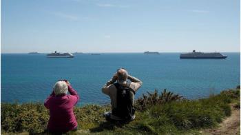 英國疫情:郵輪聚集近海 「鬼船」成為意外景點