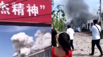驚天蘑菇雲!陸倉庫爆炸害2死 疑電線走火釀禍