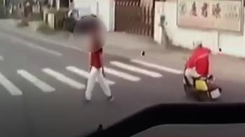 7旬翁過馬路遭左轉聯結車撞倒 後輪輾過胸慘死