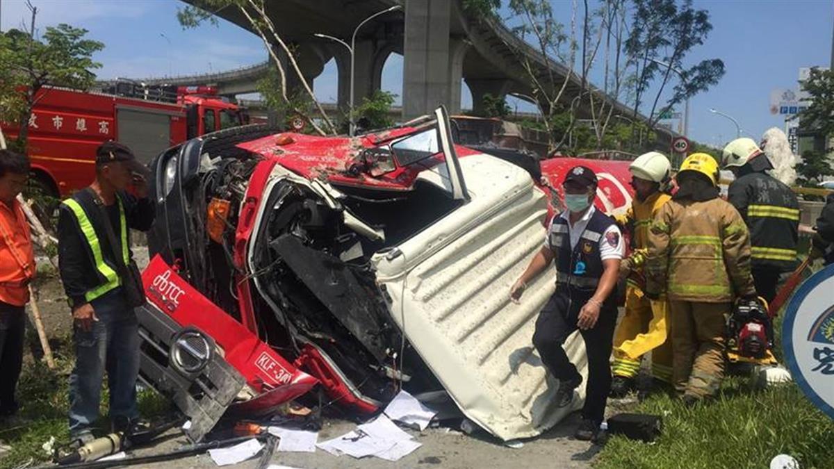 高雄預拌車衝出國道!墜落5樓高 司機慘死…驚人身分曝