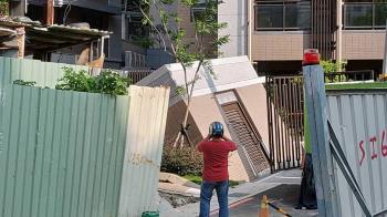 板橋建築工地掏空地基  道路損毀儲藏室倒塌