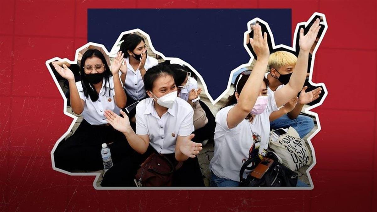 泰國年輕示威者以別出心裁方式抗議當局和《網絡安全法》