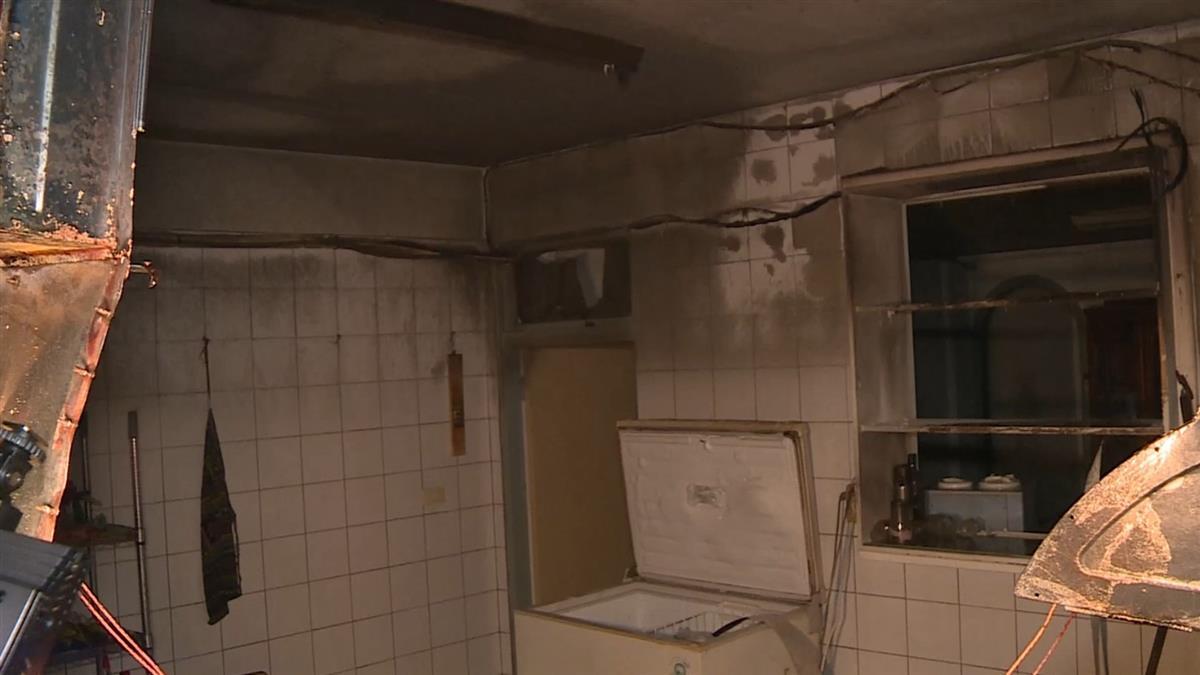 廚房炸開!台中住宅瓦斯氣爆 男40%燒燙傷倒臥門口